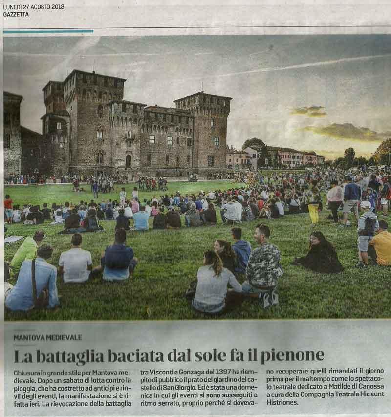 articolo della Gazzetta di Mantova